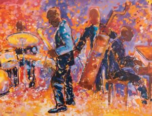 And because I believe in paying it forward to give it back, I donated 70 signed and numbered limited edition print from my Jazz series earlier this month to fundraising efforts at WSHA-88.9 FM. I'm an under writer for the public radio station, which, in case you don't know, broadcasts from Shaw University, the South's first HBCU.